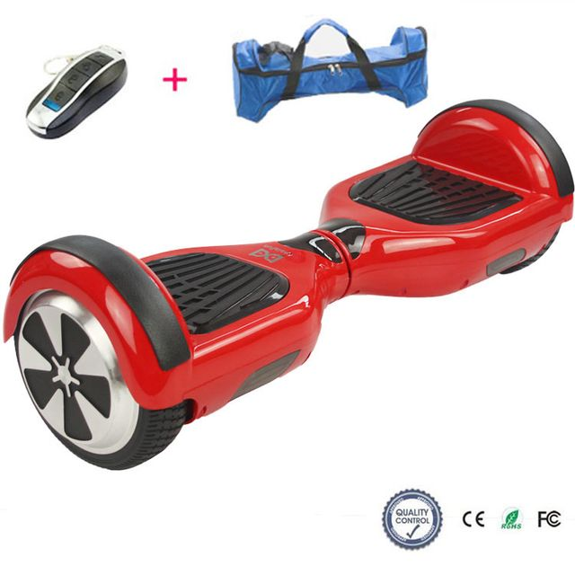 COOL AND FUN - Cool&FUN Hoverboard, Scooter électrique Auto-équilibrage,gyropode 6,5 pouces Rouge