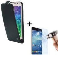 Dolce Vita - Pack Etui Slim à rabat vertical et vitre en verre trempé inrayable pour Galaxy Alpha