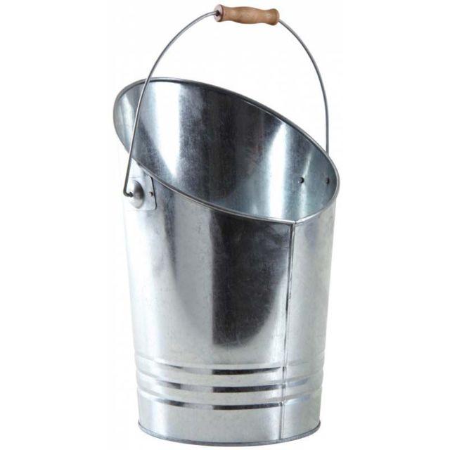 AUBRY GASPARD Seau à cendres en métal galvanisé