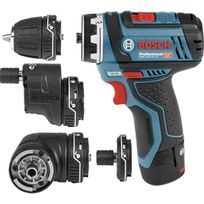 Bosch - Perceuse/Visseuse Sans fil multifonction FlexiClick GSR 12 V-15 FC SET +4 Accessoires 06019F6000