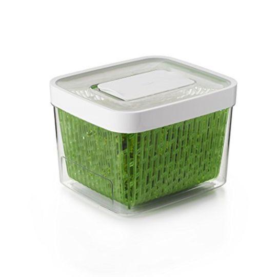 Boîte de conservatio carrée verte 4L