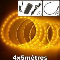 EMATRONIC - Ruban LED lot 4rouleaux de 5m 60LEDs/m 3528 - YF2-35 JAUNE