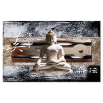 Declina - Tableau toile zen statue de bouddha asiatique - Boutique