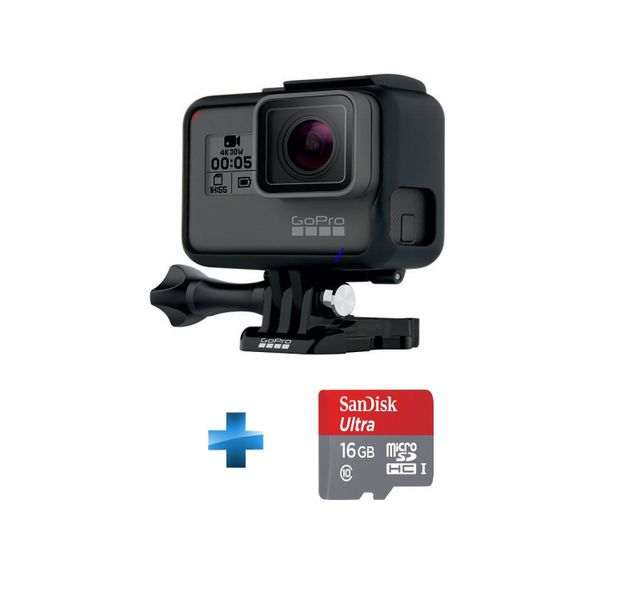 GOPRO - Pack Hero 5 Black + Micro SD 16Go