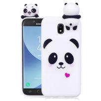 Wewoo - Coque pour Samsung Galaxy J7 2017 / J730 Version Ue Panda Motif Tpu Housse de protection arrière avec 3D Poupée