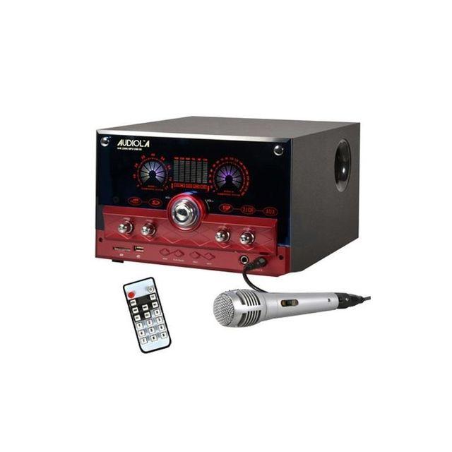 AUDIOLA Majestic AHB-2290K 2.1 Système audio USB SD AUX MIC + micro -rouge