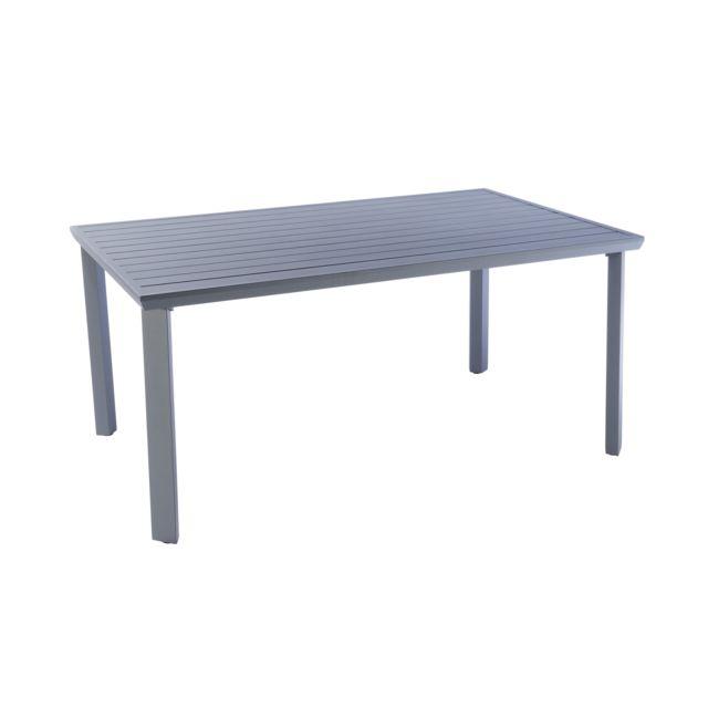 HYBA - Table de jardin Urban - Aluminium - Gris - pas cher Achat ...