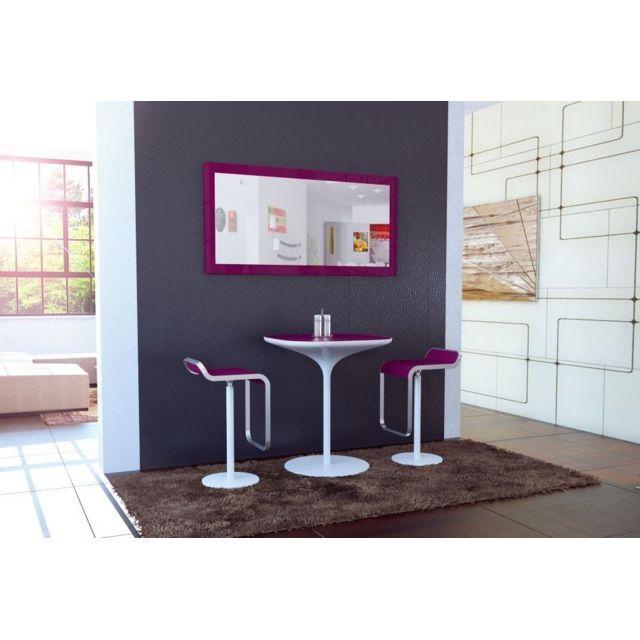Mpc Miroir laqué Violet 110 cm