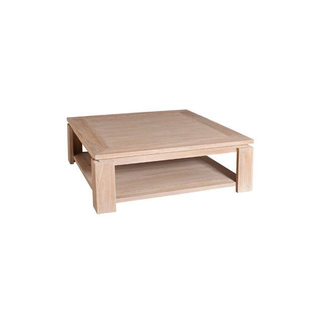 Table basse sous plateau 90x90cm Lina