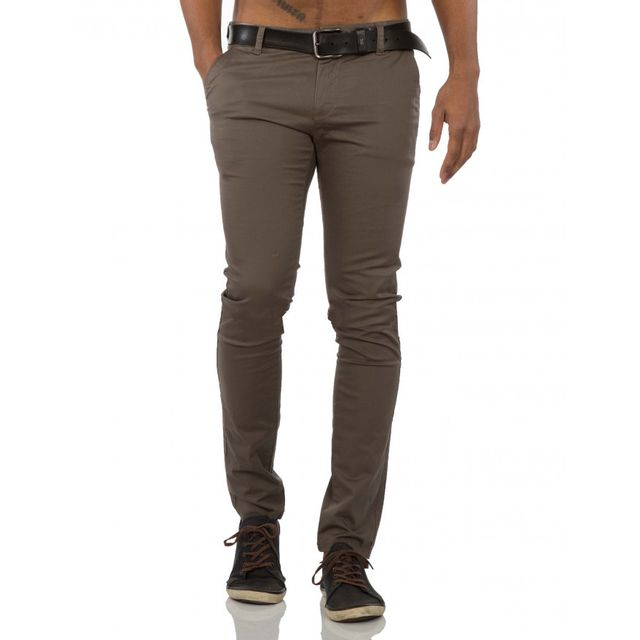 Chino Chino Beststyle homme Beststyle marron moulant homme moulant marron Sqww5Hnx