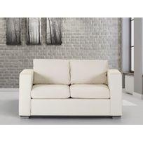 Beliani - Canapé 2 places - canapé en cuir beige - sofa Helsinki