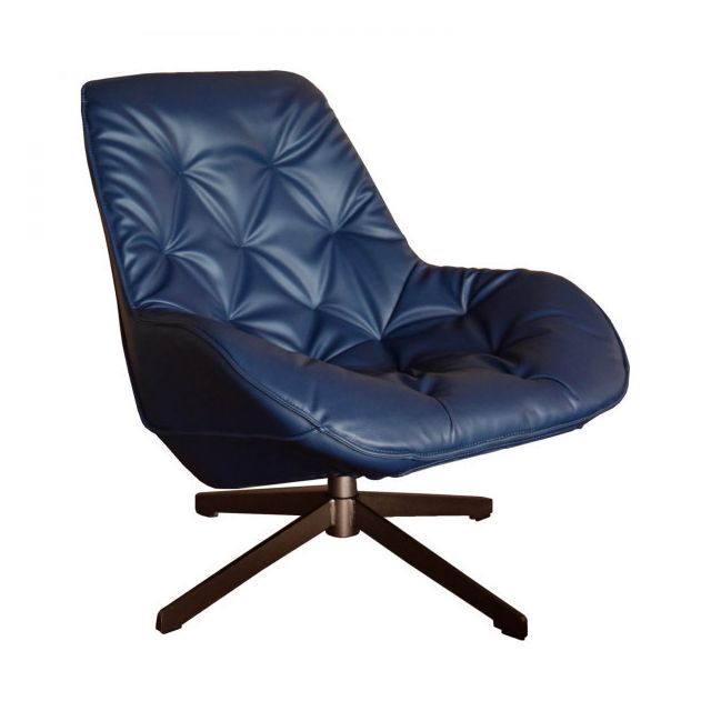 Mathi Design Fauteuil Lounge Trek Bleu