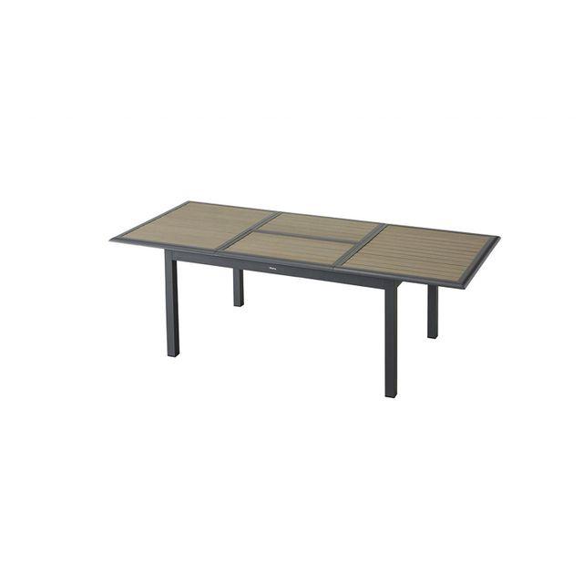 Hespéride - Table extensible Azua - 10 Places - Taupe - pas cher ...