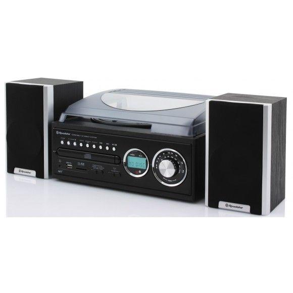 ROADSTAR - Chaine platine CD MP3 ébénisterie Bois - HIF-8888TUMP