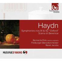 Harmonia Mundi - J. Haydn | Bernarda Fink | Rene Jacobs - Symphonies Nos.91 & 92 - Scena di Berenice DigiPack