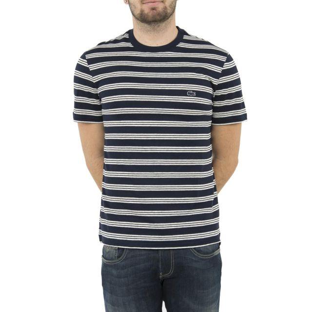 9ff42d34e8558 Lacoste - Tee shirt th1931 bleu 6 - pas cher Achat   Vente Tee shirt homme  - RueDuCommerce
