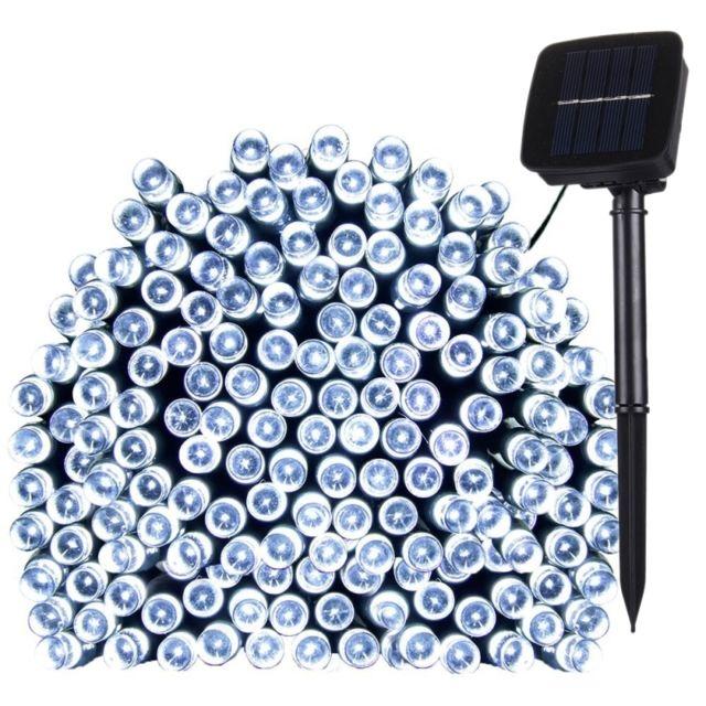 Wewoo Guirlande 17m 100 Leds Ip44 Panneau solaire étanche Fée lampe vacances décorative lumière blanche
