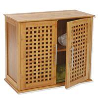 Instant d'O - Etagère de salle de bain - 2 portes - Gamme bambou