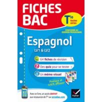 Hatier - Fiches Bac ; espagnol ; terminale LV1 & Lv2