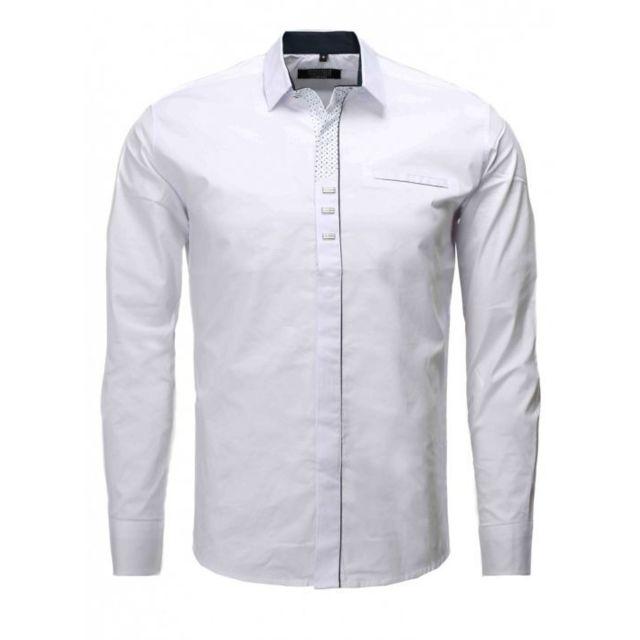 8691097e7c2cb Carisma - Chemise blanche homme 8-285 Blanc XL - pas cher Achat   Vente Chemise  homme - RueDuCommerce
