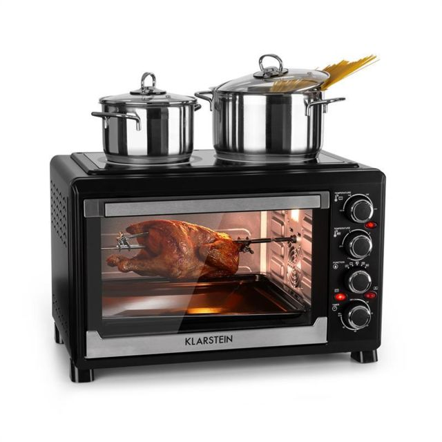 KLARSTEIN Masterchef Mini four minuterie 60 min 38L Table de cuisson infrarouge