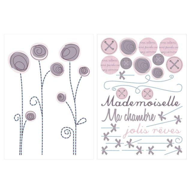 Candide Stickers Décors Muraux Repositionnables Poème
