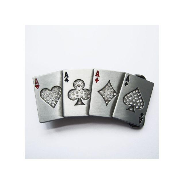 41dc8bbea0c Universel - Boucle de ceinture poker jeux de carte avec strass femme - pas  cher Achat   Vente Objets déco - RueDuCommerce