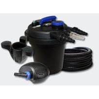 Helloshop26 - Kit filtration bassin à pression 6000l 11W Uvc 10W Pompe Tuyau Skimmer 4216213