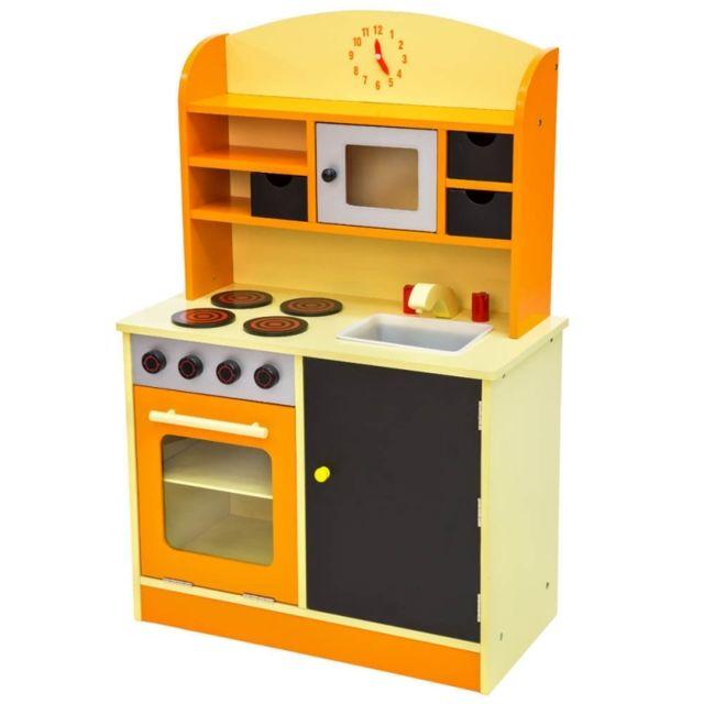 Helloshop26 - Cuisine dinette cuisinière en bois pour enfant jeux jouet  moderne jeu du rôle d f33619da9cef