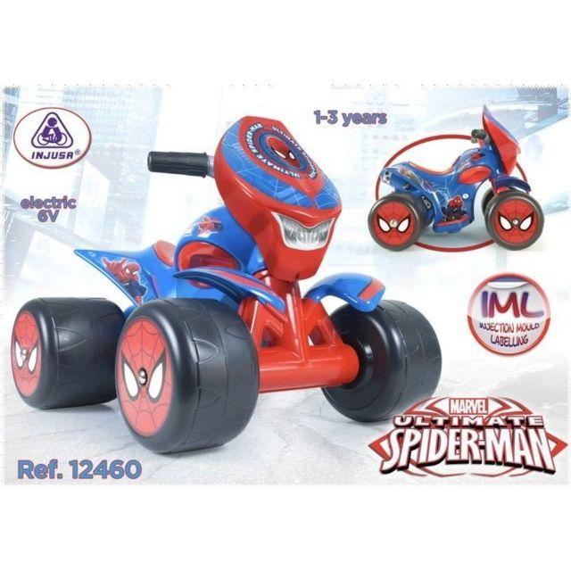 Destockage injusa quad 6v spiderman pour enfants 12460 pas cher achat vente jeux de plein - Quad spiderman ...