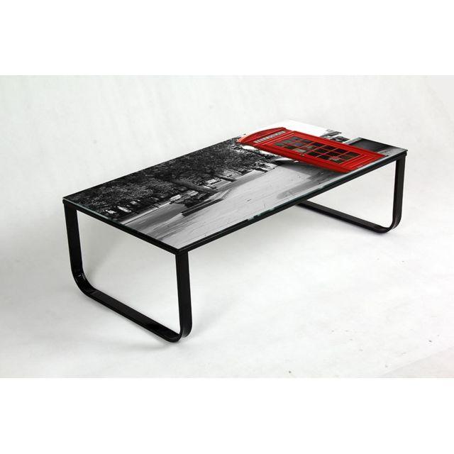 Sofamobili Table basse motif Londres design Phone