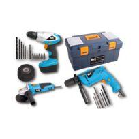 Work Men - Kit 3 machines + Boîte à outils + Accessoires - Wmkit3M-TB