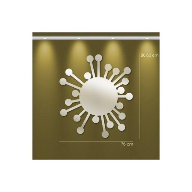 Declikdeco Miroir soleil Gm argenté en verre Ulrica 87 x 76 cm