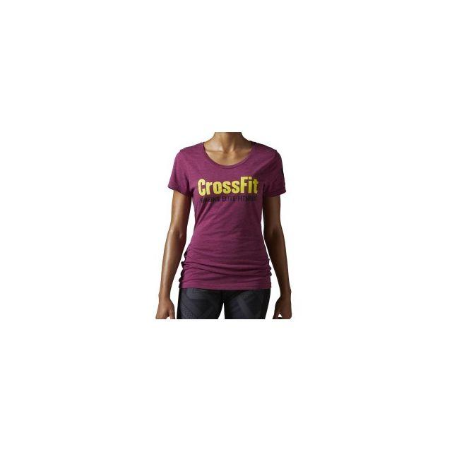 more photos 980b0 d4782 Reebok Crossfit - T-shirt Forging Elite Fitness manches courtes grenat - pas  cher Achat   Vente Tee-shirts, débardeurs - RueDuCommerce