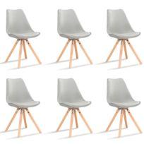 7ceb99f8d700d Oneboutic - Lot de 6 chaises scandinaves noires - Helsinki - pas ...