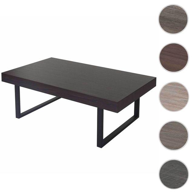 de ~ métalliques basse 40x110x60cm salon T576Fsc Kos foncés wengépieds Table rxoBQWdeC