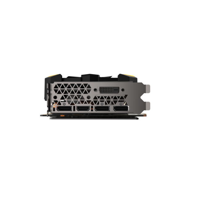 ZOTAC GeForce GTX 1070 Ti AMP! EXTREME Edition - 8Go Cette nouvelle carte graphique dotée des dernières technologies NVIDIA vous permettra d'atteindre des sommets de performances face à la demande en puissance de calcul 3D qu&rs