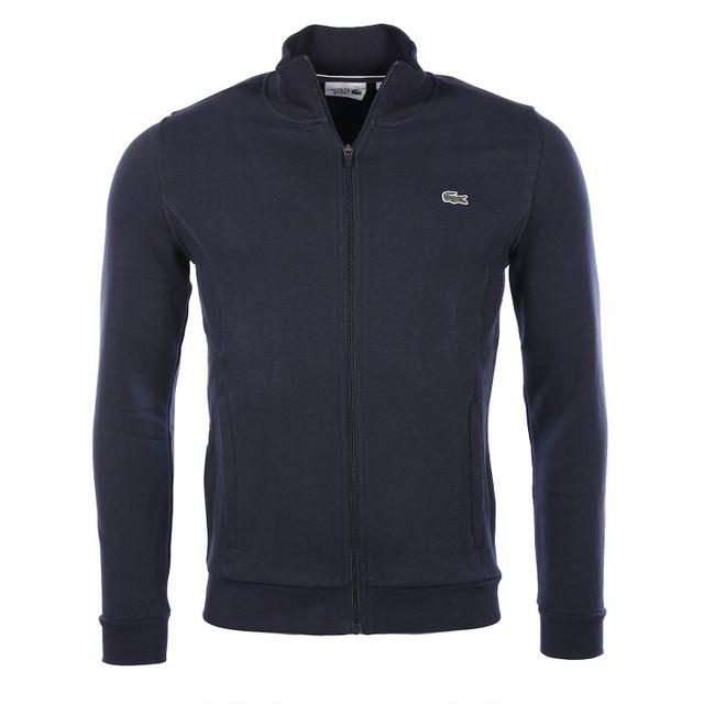 ea2d415905 Lacoste - Homme - Veste gilet zippé bleu marine Sh7616 - pas cher ...