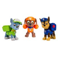 PAW PATROL - Pack 3 figurines sac a dos transformable 2 chase, rocky, zuma 6024061