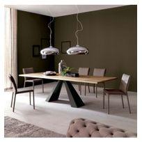 Cosy-Tendance - Table Bois Acier Tendance 104 - 200 90 73 cm