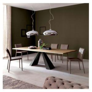 cosy&tendance - table bois acier tendance 104 - 200 90 73 cm 200cm