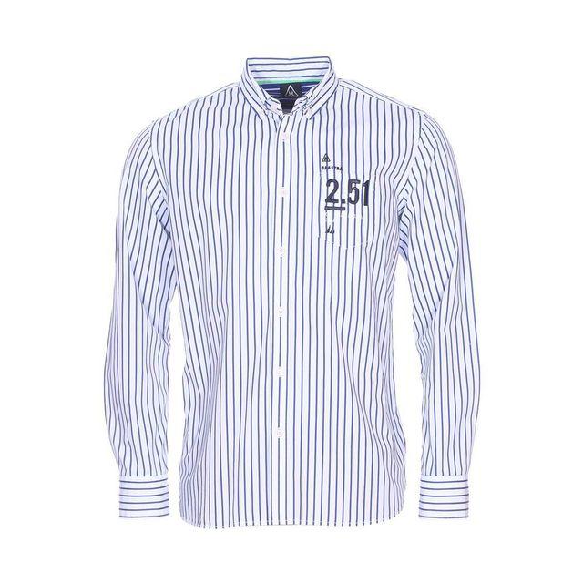 gaastra chemise droite en coton blanc rayures bleu roi. Black Bedroom Furniture Sets. Home Design Ideas