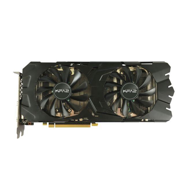 KFA2 GeForce GTX 1080 EXOC 8GB GDDR5X 256-bit La GeForce GTX 1080 EXOC est conçue avec la nouvelle architecture Pascal (gravure 16 nm et mémoire GDDR5X). Bien plus puissante que ses consœurs de générations préc&eac