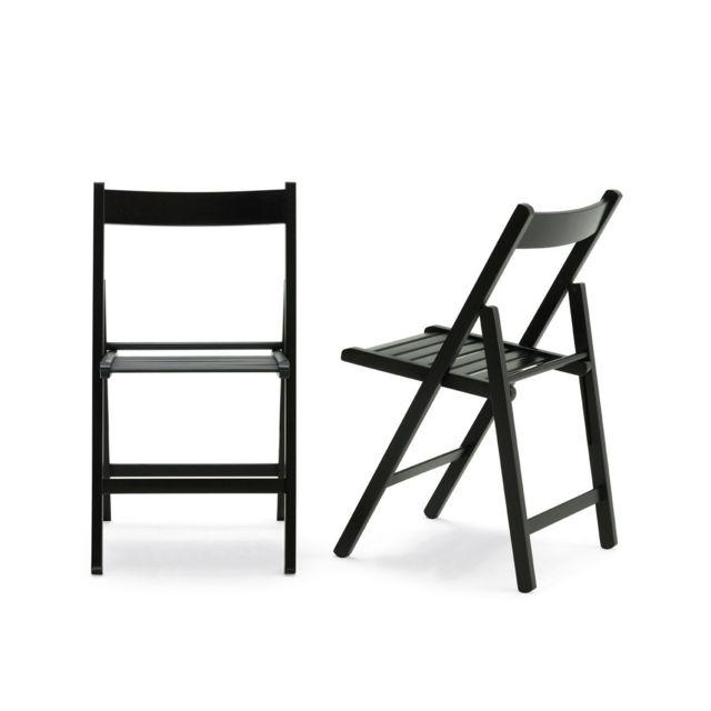 Chaise Pliante Noir Bois Wenge