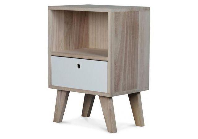 Declikdeco Table De Chevet Style Scandinave En Bois 1