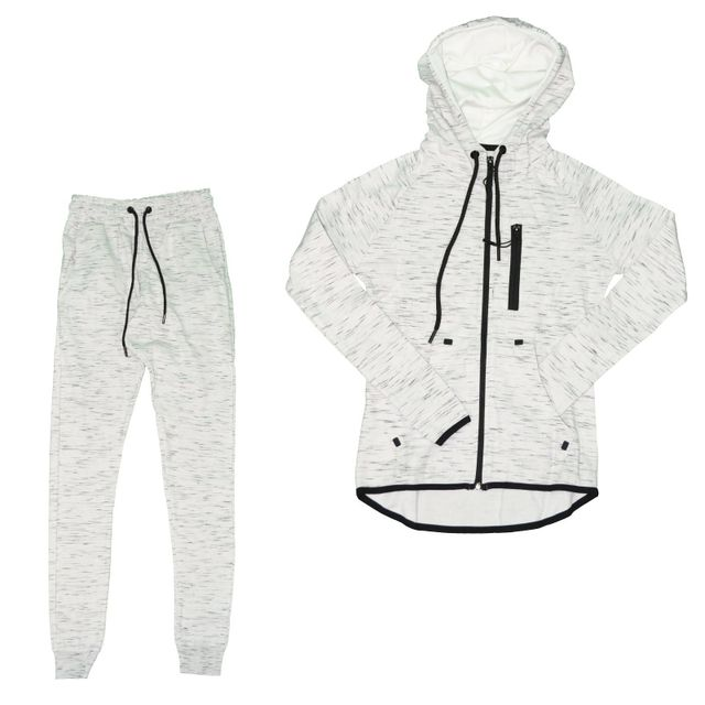 Autre - Closeout - Ensemble Complet Jogging - Femme - Ensemble Chiné 01 -  Blanc 6887003033d