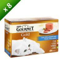 Gourmet - Gold Coffret de mousselines pour chat 12 x 85g -8