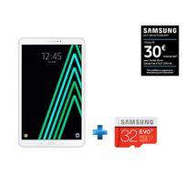 Samsung - Galaxy Tab A6 - SM-T580NZWAXEF - Wifi - Blanc + Carte Micro SDHC 32 Go EVO