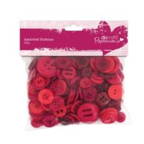 Papermania - Assortiments De Boutons Rouge 250 G
