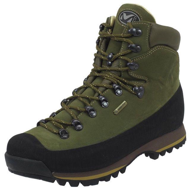 73a3bdd7c16 Millet - Chaussures marche randonnées Millet Bouthan gtx vibram cuir Vert  26706